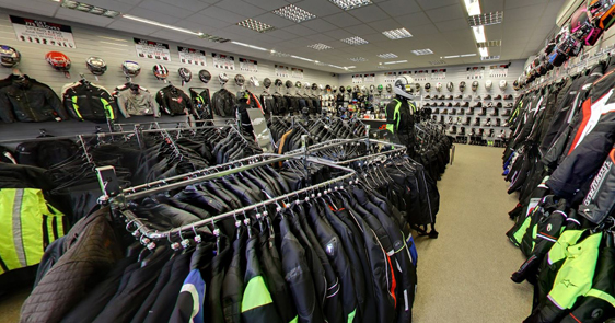 JTS motorcycle clothing shop inside 3
