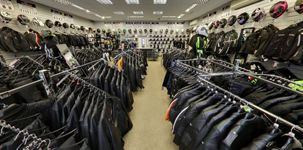 JTS motorcycle clothing shop inside 2