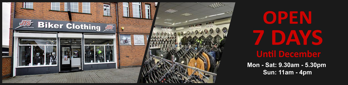 JTS Biker Clothing Open 7 Days per Week