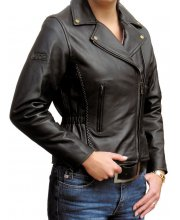 JTS 765 Ladies Leather Motorbike Jacket