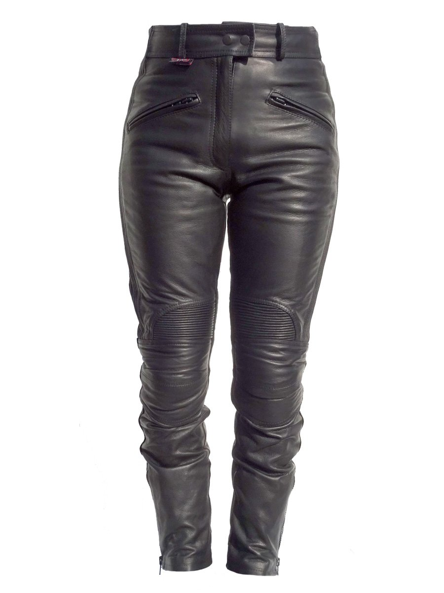 97b90c4f Leather Motorcycle Trousers fro Ladies - JTS Biker Clothing