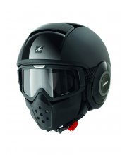Shark Raw Dual Black Motorcycle Helmet