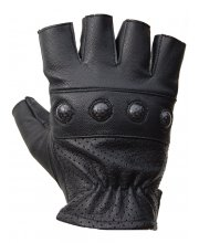 JTS Fingerless Motorcycle Gloves with Protection