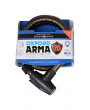 Oxford Arma Armoured Scooter Cable Lock (Black)