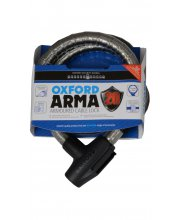Oxford Arma Armoured Scooter Cable Lock (Grey)