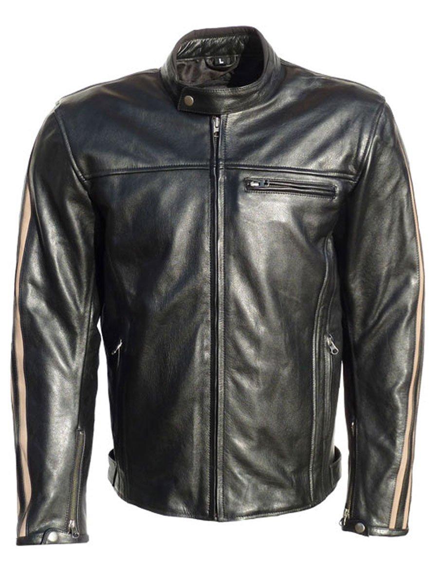 JTS Legion Retro Leather Motorcycle Jacket - FREE UK . a4ceab4b3