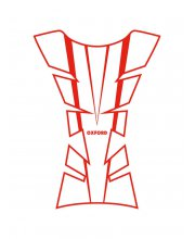 Oxford Sheer Arrow Vinyl Motorcycle Tank Pad Red