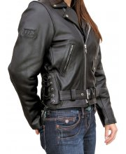 JTS 888 Ladies Leather Motorbike Jacket