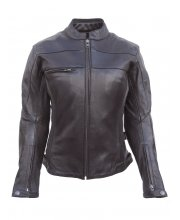 JTS Harper Ladies Leather Motorcycle Jacket