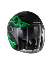 Shark RSJ Hotspur Motorcycle Helmet Matt Green