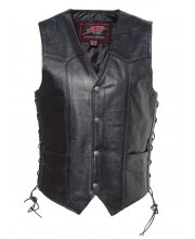 JTS Laced Sided Leather Waistcoat