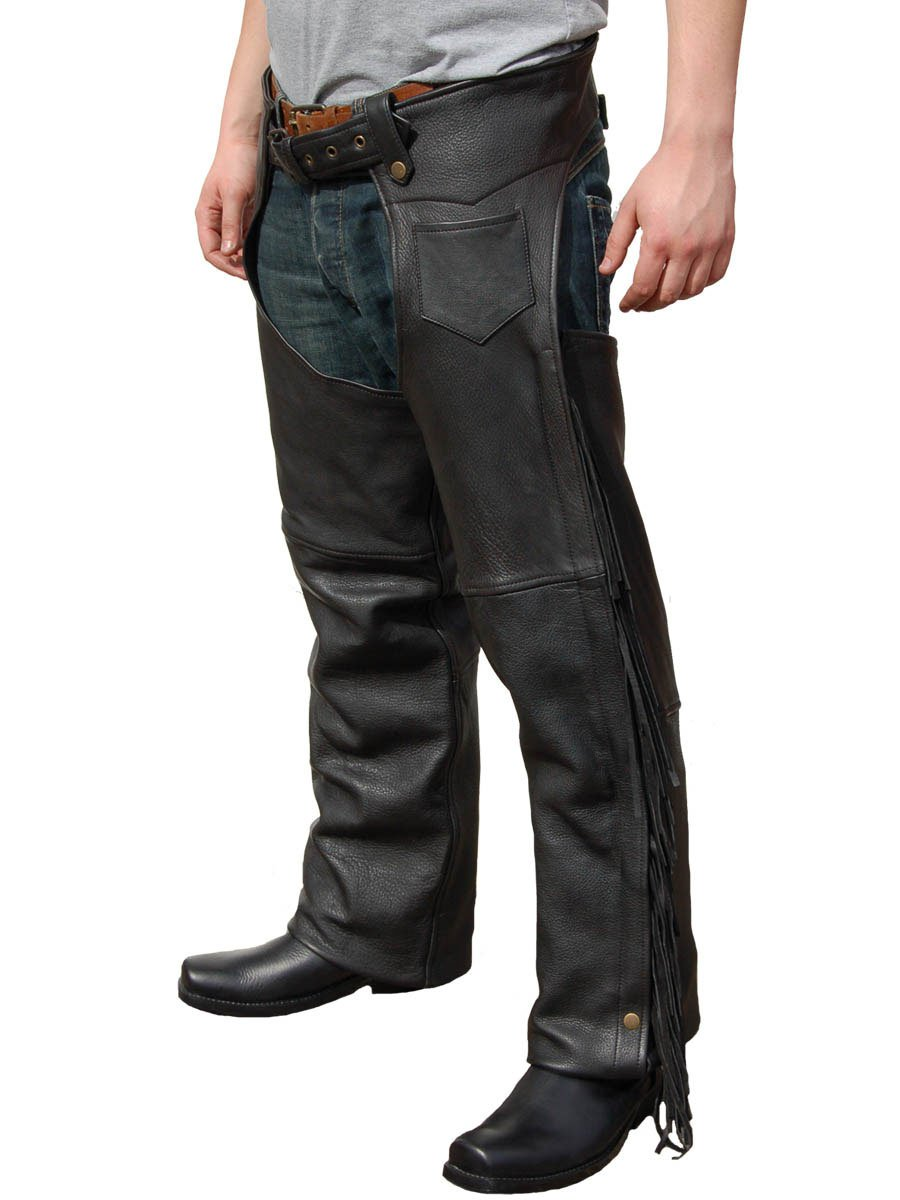 jts mens leather fringed chaps free uk delivery