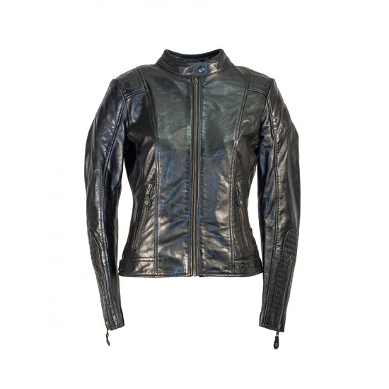 Richa Lausanne Leather Motorcycle Jacket Black