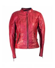 Richa Lausanne Leather Motorcycle Jacket Red