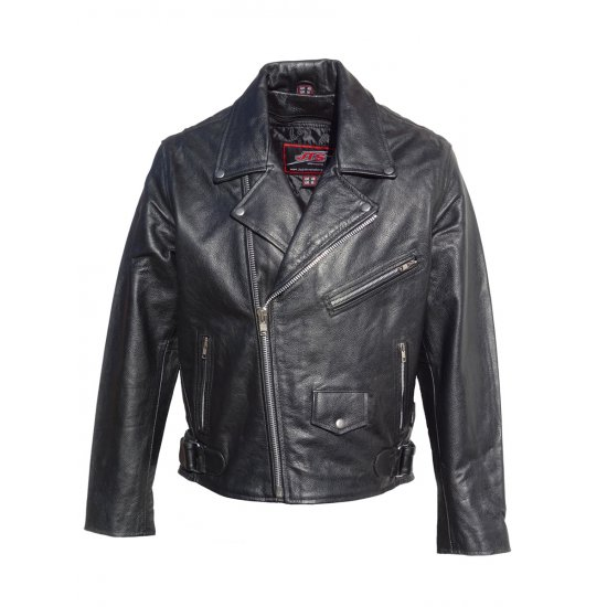 JTS Brando Mens Leather Motorcycle Jacket