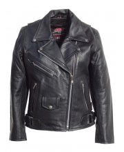 JTS Brando Ladies Leather Motorcycle Jacket