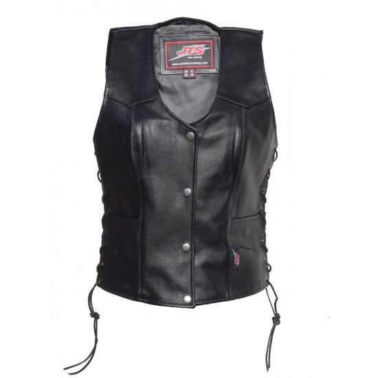 JTS Laced Sided Ladies Leather Waistcoat