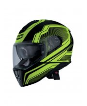 Drift Flux Motorcycle Helmet Yellow