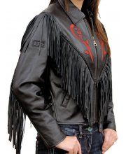 JTS Rose Ladies Leather Motorcycle Jacket