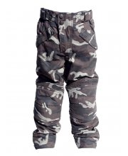Kids Podium Camo Motorcycle Trousers