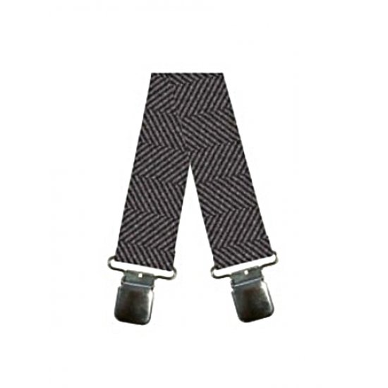 Oxford Rigger Braces Herringbone Brown