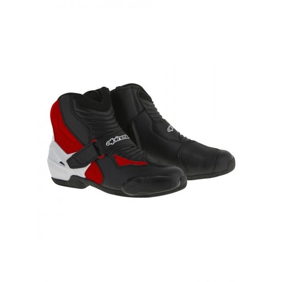 Alpinestars SMX-1 R Motorcycle Boots Red