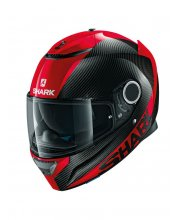Shark Spartan Carbon Skin Motorcycle Helmet Red At JTS Biker Clothing