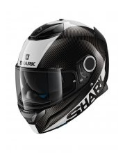 Spartan Carbon Skin Motorcycle Helmet White at JTS Biker Clothing