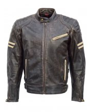JTS Hero Leather Retro Motorcycle Jacket