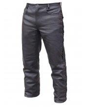 JTS 113 Mens Leather Laced Jeans