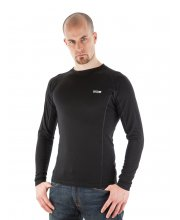EDZ Merino Wool Men's Crew Neck Base Layer Black