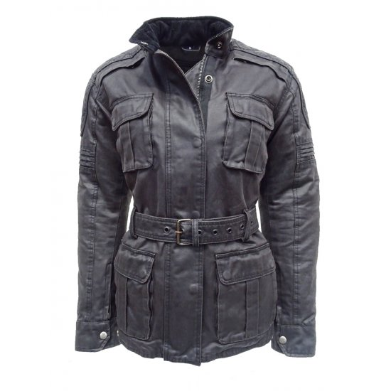 Jts Lacey Ladies Wax Cotton Motorcycle Jacket Free Uk
