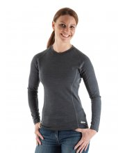 EDZ Merino Wool Ladies Base Layer Top Grey