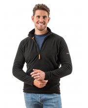 EDZ Mens MicroFleece Midlayer 1-4 Black