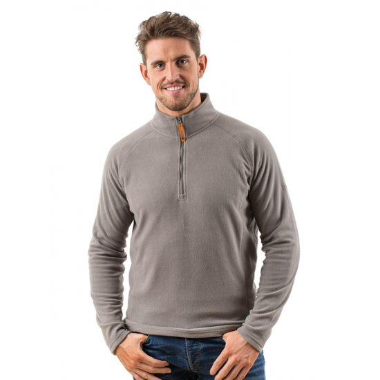 EDZ Mens MicroFleece Midlayer 1-4 Grey