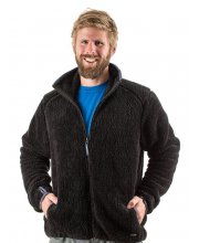 EDZ Mens Yeti Fleece Jacket Black