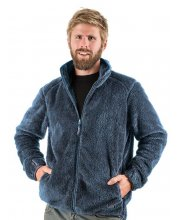 EDZ Mens Yeti Fleece Jacket Blue