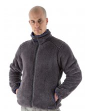 EDZ Mens Yeti Fleece Jacket Grey