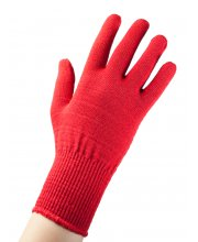 EDZ Merino Wool Liner Gloves Red