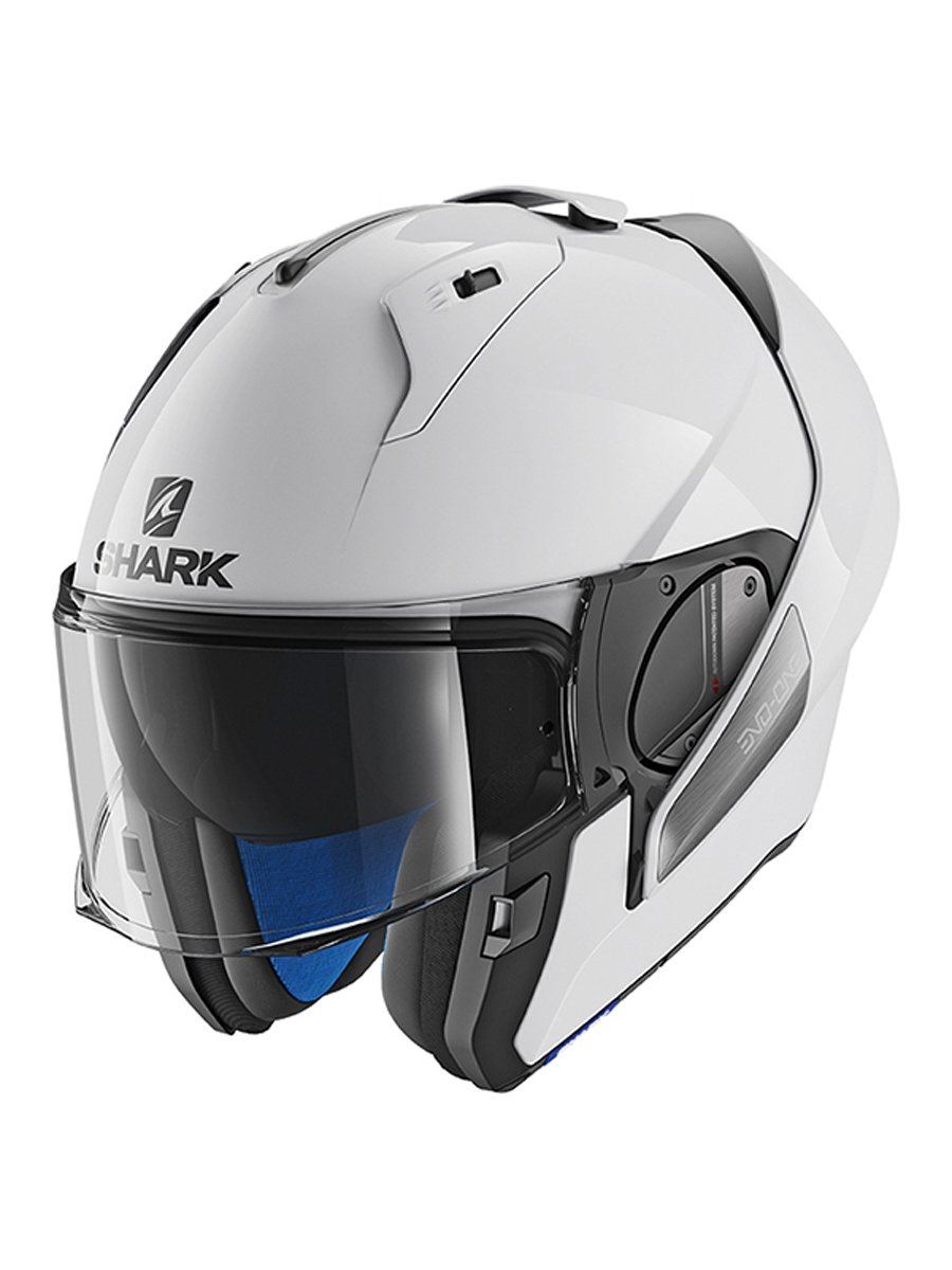 shark evo one 2 blank motorcycle helmet free uk delivery exchanges jts biker clothing. Black Bedroom Furniture Sets. Home Design Ideas