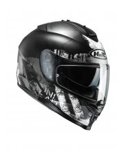 HJC IS-17 Shapy Black Motorcycle Helmet at JTS Biker Clothing