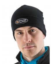 EDZ Merino Wool Beanie Hat Black
