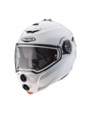 Caberg Droid Flip Front White Motorcycle Helmet at JTS Biker Clothing