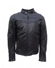 JTS 25 Mens Leather Motorcycle Jacket