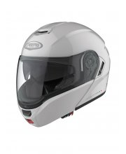 Caberg Levo Flip Front White Motorcycle Helmet at JTS Biker Clothing