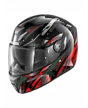 Shark D-Skwal Kanhji Red Motorcycle Helmet at JTS Biker Clothing