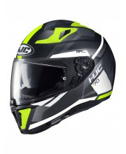 HJC I70 Elim Hi-Vis Motorcycle Helmet at JTS Biker Clothing