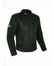 Oxford Hardy Wax Cotton Textile Motorcycle Jacket at JTS Biker Clothing