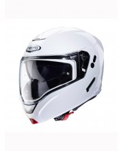 Caberg Horus Flip Front White Motorcycle Helmet at JTS Biker Clothing