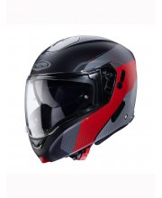 Caberg Horus Scout Flip Front Black/Red Motorcycle Helmet at JTS Biker Clothing